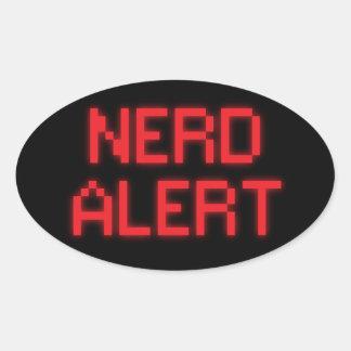 Adesivo Oval Alerta do nerd