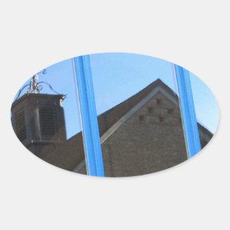 Adesivo Oval Aleta de vento na janela