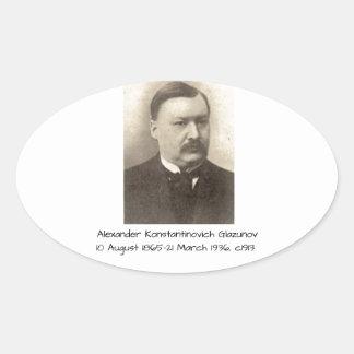 Adesivo Oval Alexander Konstamtinovich Glazunov c1913