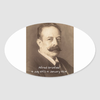 Adesivo Oval Alfred Grunfeld