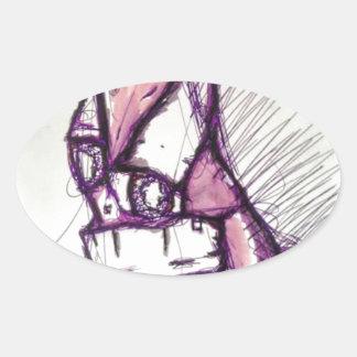 Adesivo Oval Algo que perturba