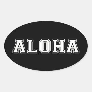 Adesivo Oval Aloha