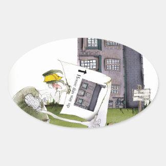 Adesivo Oval ame ascendentes ey de yorkshire ', trabalhos um