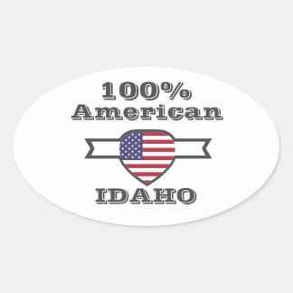 Adesivo Oval Americano de 100%, Idaho