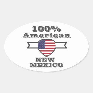 Adesivo Oval Americano de 100%, New mexico
