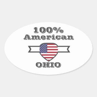 Adesivo Oval Americano de 100%, Ohio