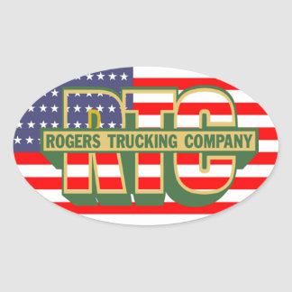 Adesivo Oval Americano Orgulho Rogers Trucking Empresa