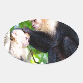 Adesivo Oval Amor do macaco