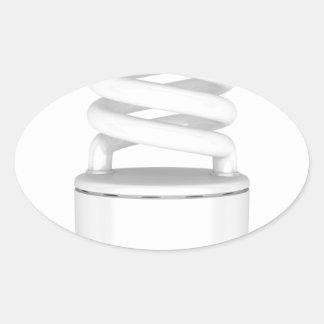 Adesivo Oval Ampola fluorescente