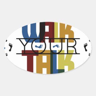 Adesivo Oval Anda sua conversa #1