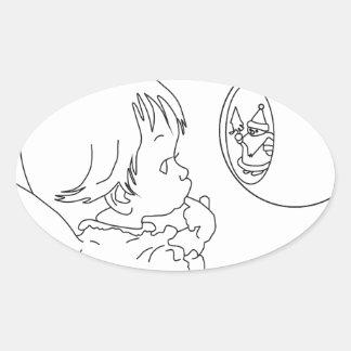 Adesivo Oval anjo