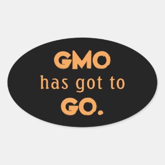 Adesivo Oval Anti GMO