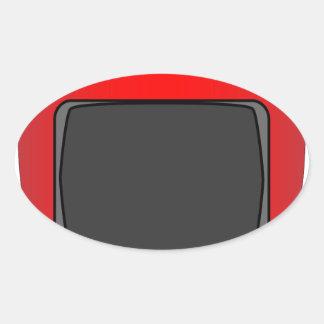 Adesivo Oval Aparelho de televisão velho