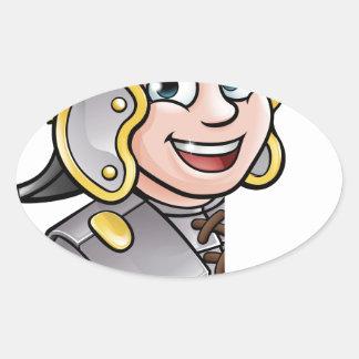 Adesivo Oval Apontar romano do soldado