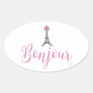 Adesivo Oval Arco da torre de Bonjour-Eiffel original