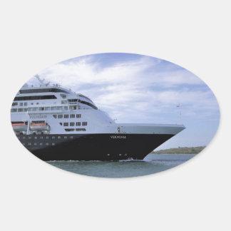 Adesivo Oval Arco lustroso do navio de cruzeiros