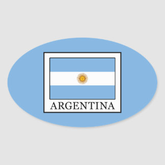Adesivo Oval Argentina