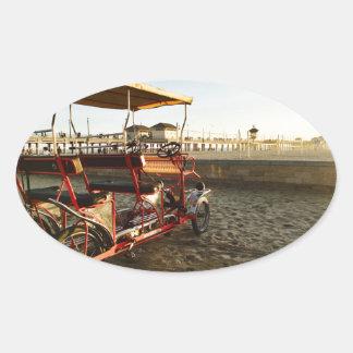 Adesivo Oval Arrendamentos da praia