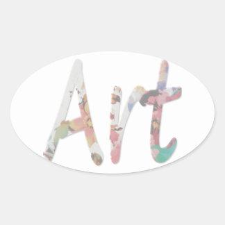 Adesivo Oval Art-001