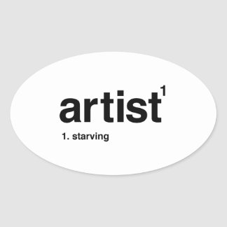 Adesivo Oval artista