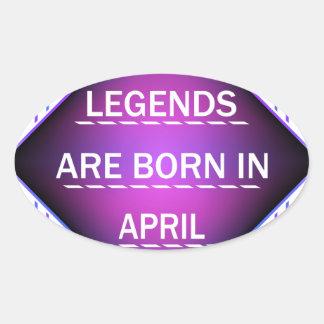 Adesivo Oval As legendas são nascidas em abril