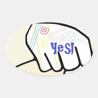 Adesivo Oval ASL oh SIM