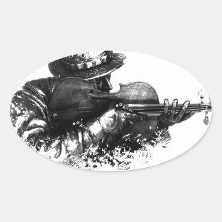 Adesivo Oval atirador furtivo do violino