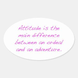 Adesivo Oval Atitude - calvário ou aventura