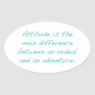 Adesivo Oval Atitude -- calvário ou aventura (verde)
