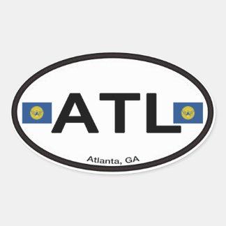 Adesivo Oval Atlanta ATL Euro--Oval