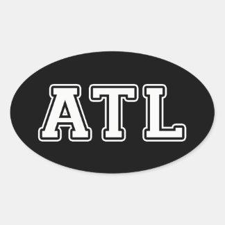 Adesivo Oval Atlanta Geórgia