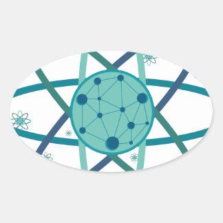 Adesivo Oval Átomo