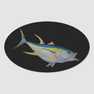 Adesivo Oval atum de atum amarelo