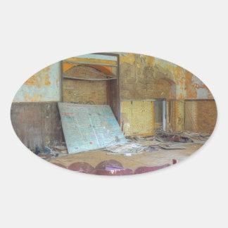Adesivo Oval Auditório 01,0, lugares perdidos, Beelitz