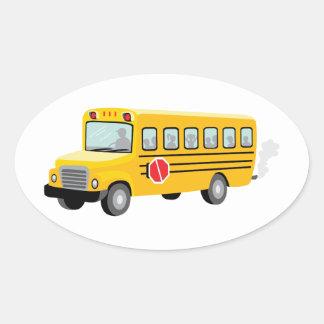 Adesivo Oval Auto escolar