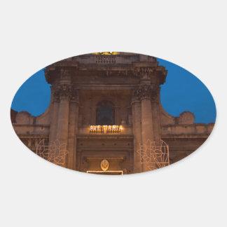 Adesivo Oval Ave Maria Church em Catania