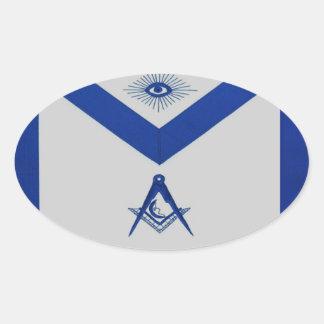 Adesivo Oval Avental júnior maçónico do diácono