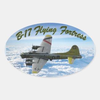 Adesivo Oval Avião do bombardeiro da fortaleza WWII do vôo B17