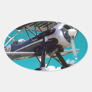 Adesivo Oval Avião velho
