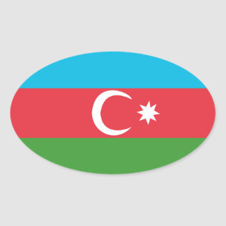 Adesivo Oval Azerbaijao