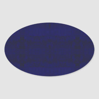 Adesivo Oval azul