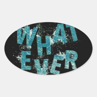Adesivo Oval Azul da cerceta o que quer que