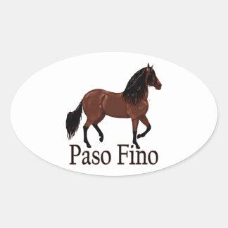 """Adesivo Oval Baía """"Paso Fino """" de Paso Fino"""