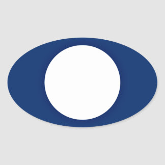 Adesivo Oval Baixo custo! Bandeira de Laos