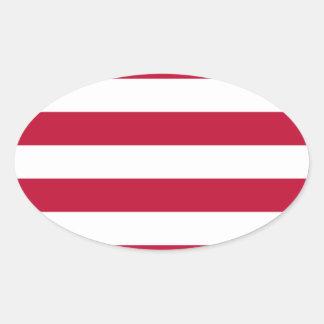 Adesivo Oval Baixo custo! Bandeira de Liberia