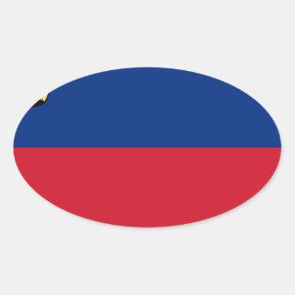 Adesivo Oval Baixo custo! Bandeira de Liechtenstein