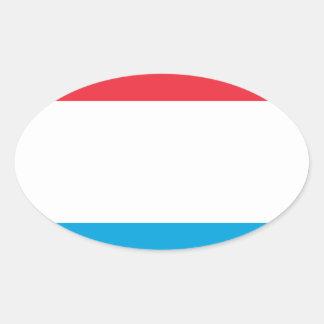 Adesivo Oval Baixo custo! Luxembourg embandeira
