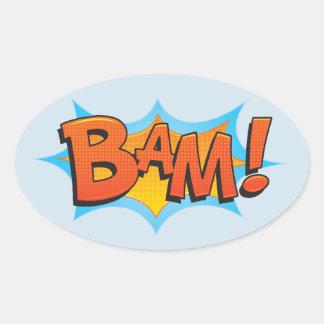 Adesivo Oval BaM cómico!