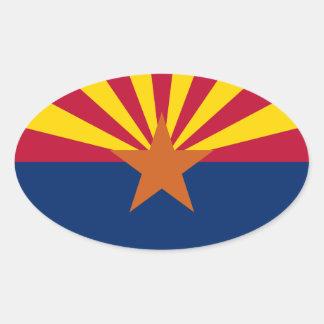 Adesivo Oval Bandeira da arizona