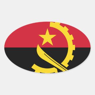 Adesivo Oval Bandeira de Angola - Bandeira de Angola